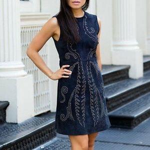 Zara mini dress suede M blue 👗💙